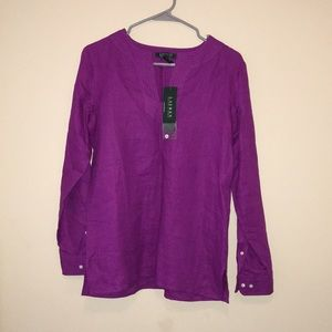 Ralph Lauren long Purple linen tunic
